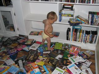 Sacha destroying our entertainment library